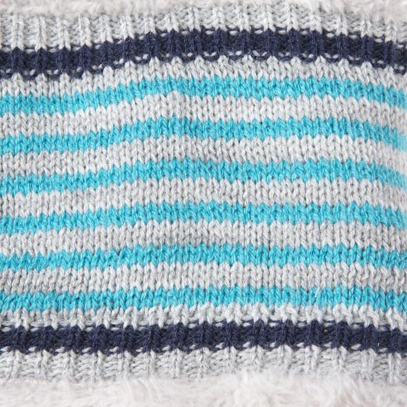 Baby Schal mit Strick und Streifen