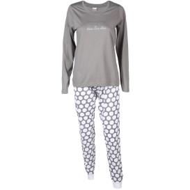 Damen Pyjama mit Glitzer Print