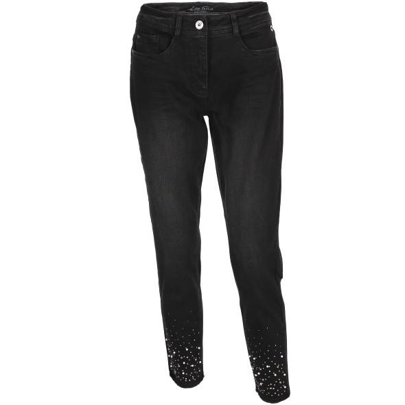 Damen Jeans mit Perlen und Glitzernieten
