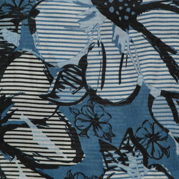 Damen Loopschal mit Allover Print