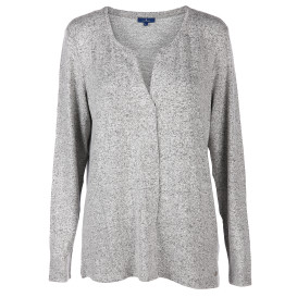 Damen Langarmshirt in Melange-Optik