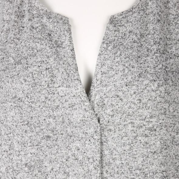 Damen Langarmshirt in Melange-Optik