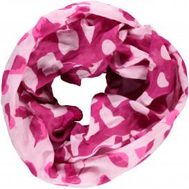 Damen Loop Schal mit Blätterprint