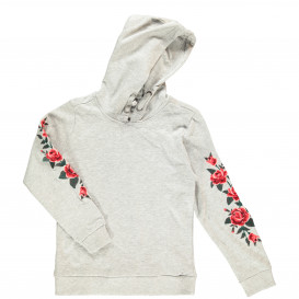 Mädchen Kapuzen Sweatshirt mit Stickerei