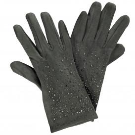 Damen Handschuhe mit Strass