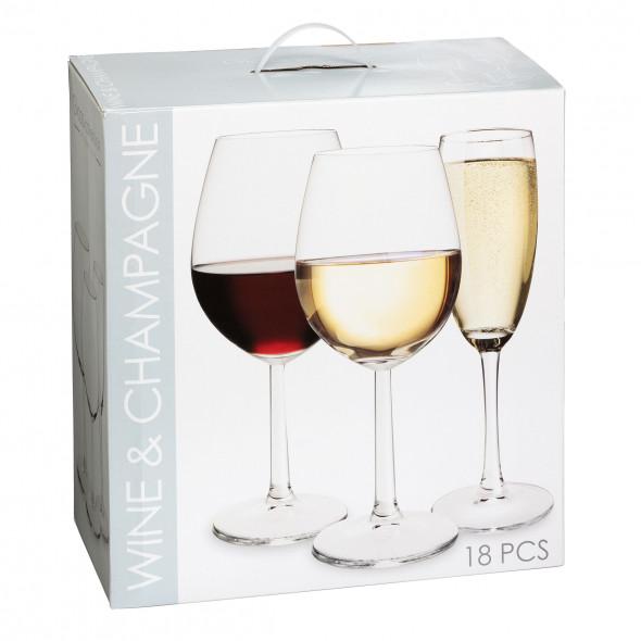Wein und Champagner Gläser 18tlg. Set