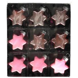 Box mit Sternendekoration 9tlg.