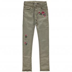 Mädchen Hose mit Stickerei und Abnutzungsdetails