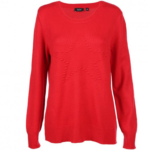 Damen Pullover mit Stern Motiv