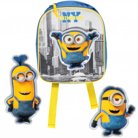 Kinder Rucksack mit Minionsmotiven