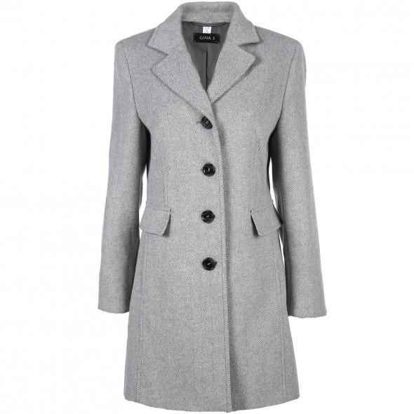 16556a2d8c6c Damen Wollmantel mit Reverskragen (Grau) | AWG Mode