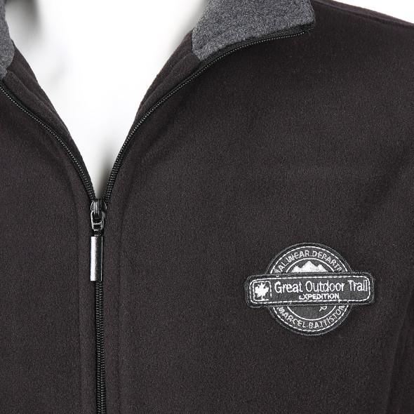 Herren Fleece Jacke mit Reißverschluss