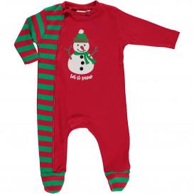 Baby Schlafanzug mit Schneemannmotiv