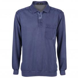 Herren Polosweater mit Knopfleiste
