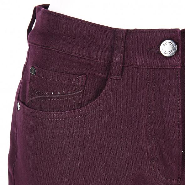Damen Stretch  Hose mit Glitzerdetails
