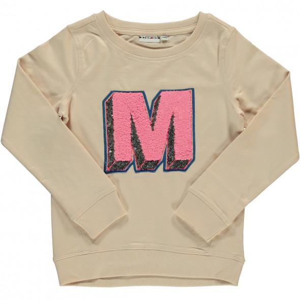 Mädchen Sweatshirt mit Pailletten und Stickerei
