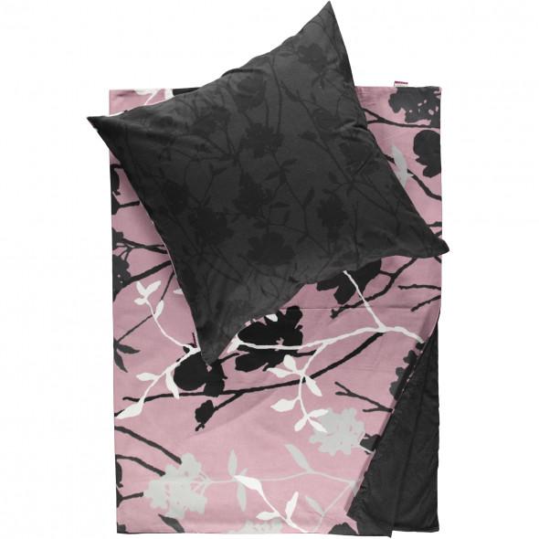 Biber Bettwäsche mit floralem Muster 155x220cm