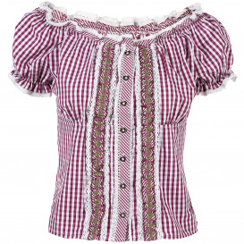 Damen Trachtenbluse im Vichykaro Look