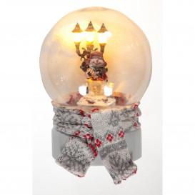 Schneekugel mit LED Licht