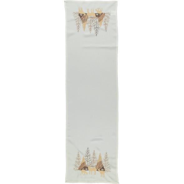 Tischläufer mit weihnachtlicher Stickerei 40x140cm