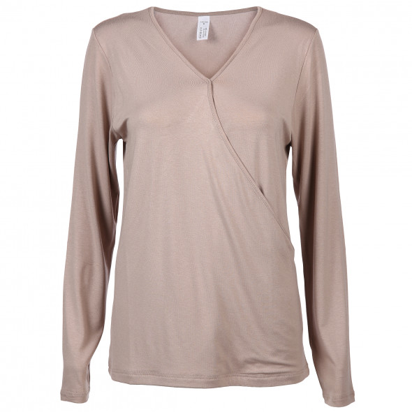 Damen Langarmshirt in Wickeloptik