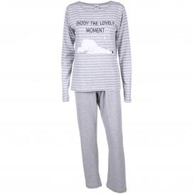 Damen Pyjama mit Stickerei Applikation