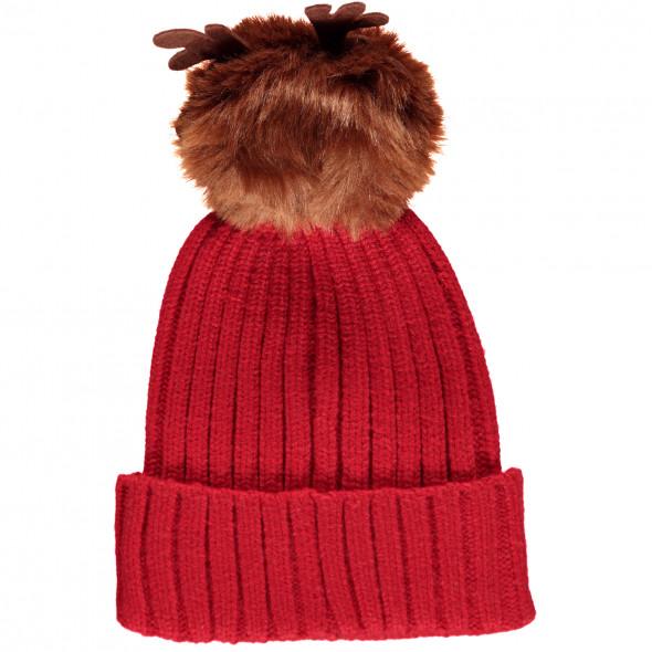 Damen Mütze mit Pompom