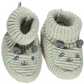 Baby Strickschuhe mit Tiergesicht
