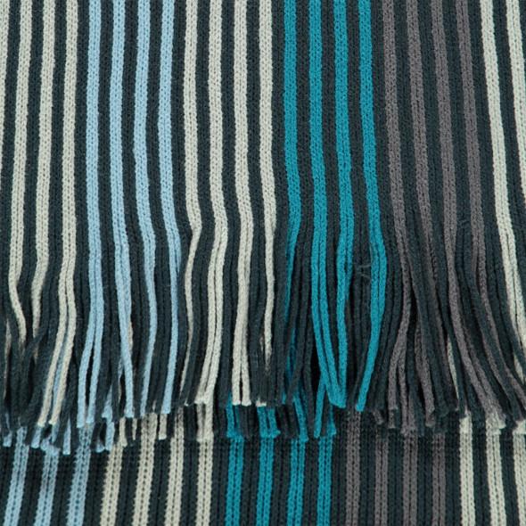 Herren Schal mit Streifen und Fransen