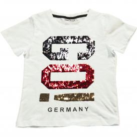 Mädchen T-Shirt mit Kipp-Paillettenmotiv