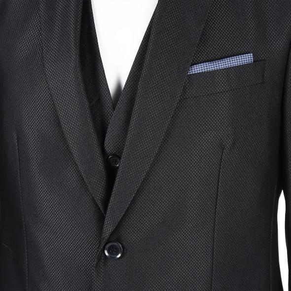 Herren Anzug 5tlg im filigranen Muster