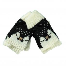 Mädchen Strickhandschuhe mit abklappbarer Kuppe