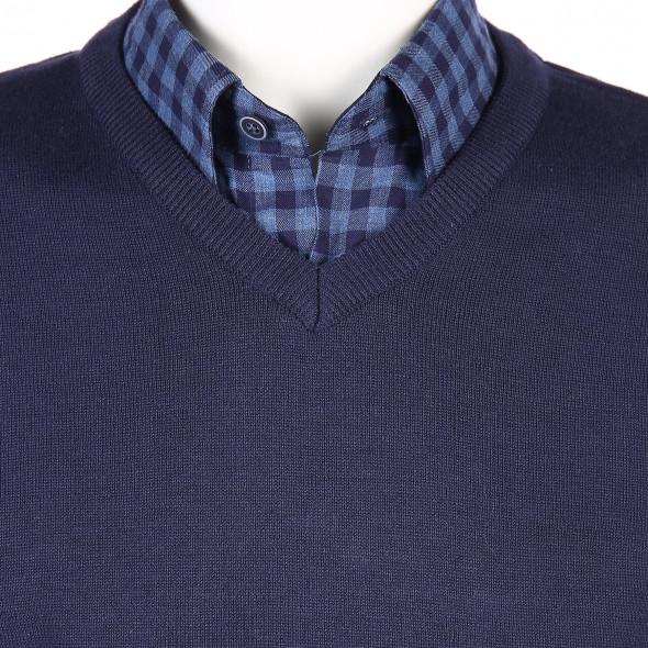 Herren Set bestehend aus Hemd mit Pullover