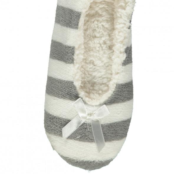 Damen Home Slipper im Streifen Design