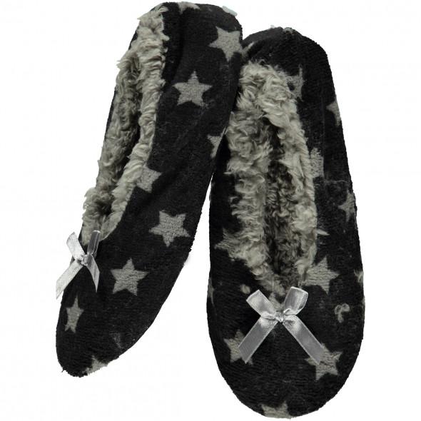 Damen Home Slipper mit Sternen Design