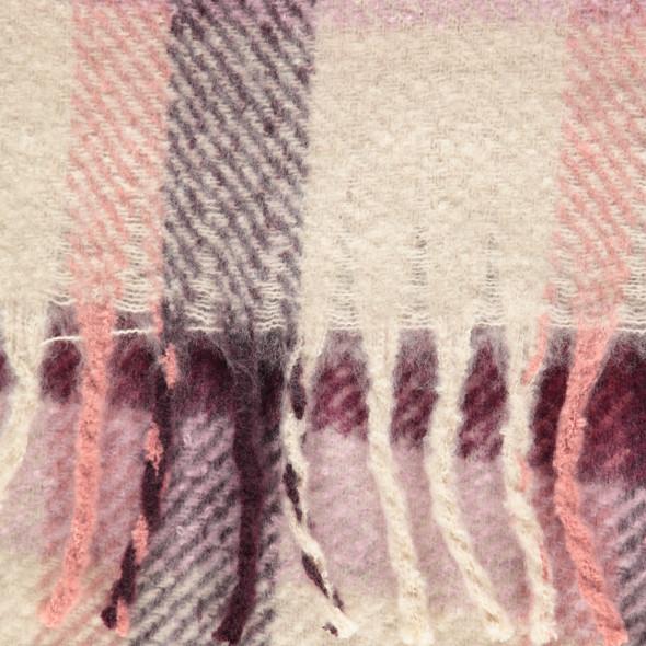 Damen Schal im Karo Look mit Fransen