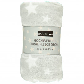 Fleecedecke mit Sternenprint 150x200cm