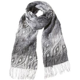Damen Schal im Pfauenmuster