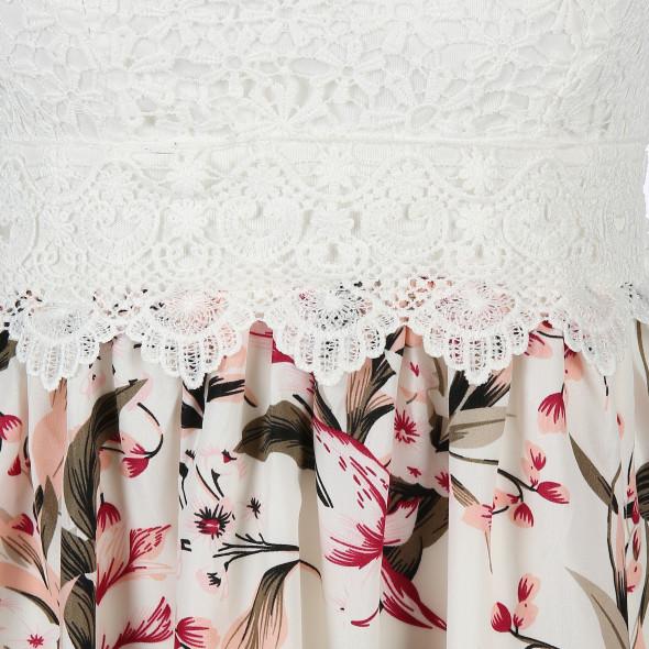 Damen Sommerkleid mit floralem Print