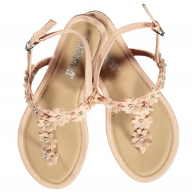 Damen Sandale mit Blütensteg