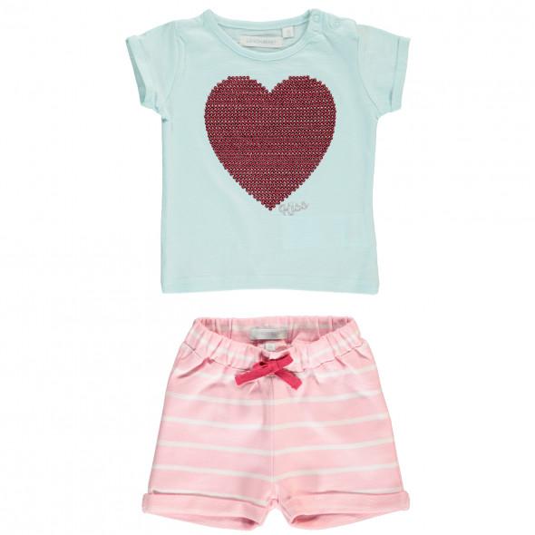 Baby Mädchen Set bestehend aus Shirt und kurzer Hose