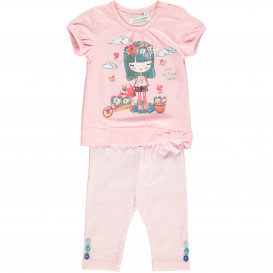 Baby Mädchen Set besetehend aus Shirt und Leggings