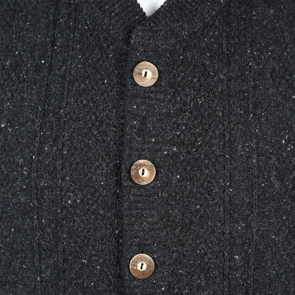 Herren Trachten Strickweste mit Knopfleiste