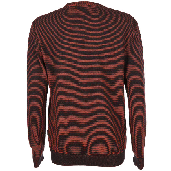 Herren Strickpullover in gerippter Optik