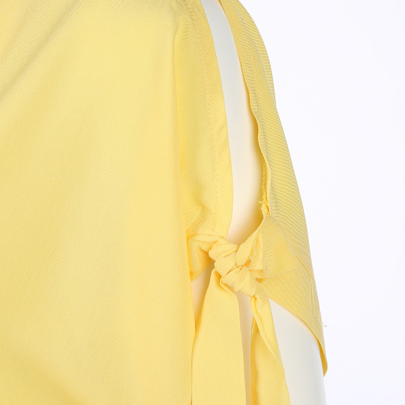 Damen Schlupfbluse mit breitem Volant