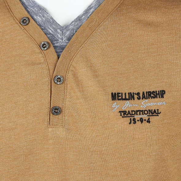 Herren Shirt mit Knopfleiste