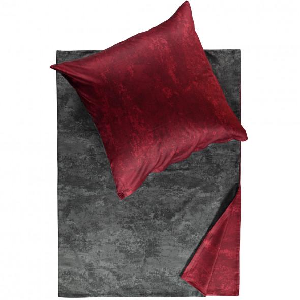 Satinbettwäsche mit zwei Farbseiten 135x200cm