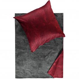 Satinbettwäsche mit zwei Farbseiten 155x220cm