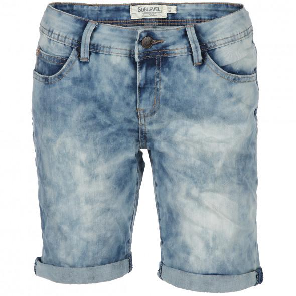 Damen Jeans Bermuda mit toller Waschung (Blau)   AWG Mode cfffe68754