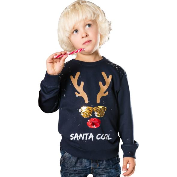Jungen Sweatpullover mit Weihnachtsmotiv